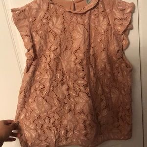 Pretty Peach H&M flower design blouse
